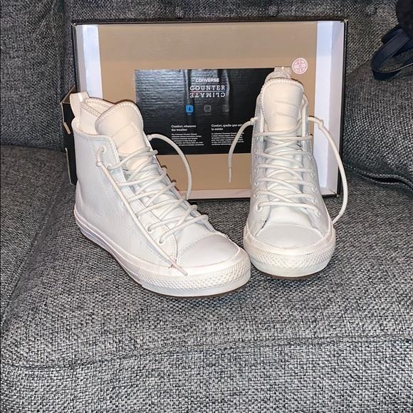 converse waterproof white